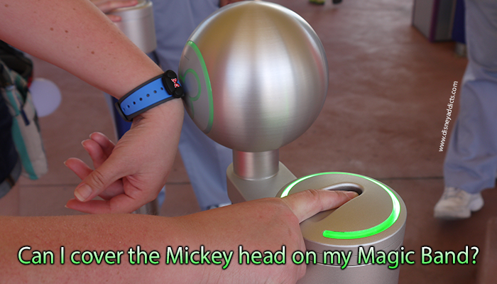 Can I cover the Mickey head on my Magic Band?