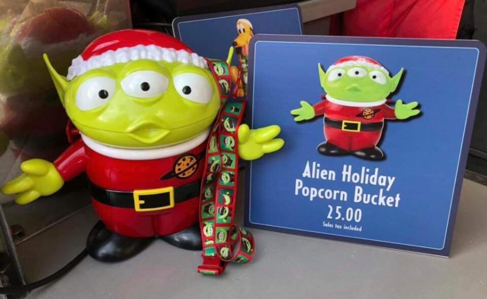 Christmas Alien Disney Popcorn Bucket 2020 New Christmas Popcorn Buckets and More Have Popped up at Walt