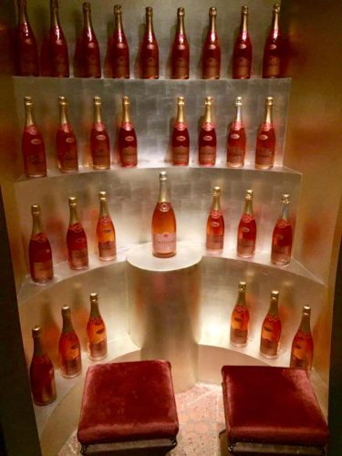 Uncork your bubbly self in the Champagne decor of Pink: Wine and Champagne Bar