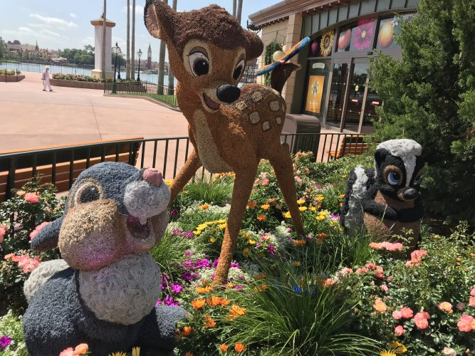 Topiary with Bambi and Thumper