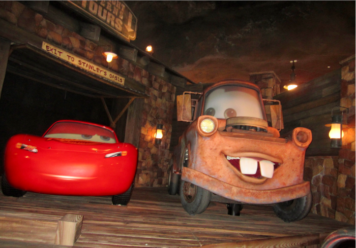 Lightning and Mater in Radiator Springs Racers