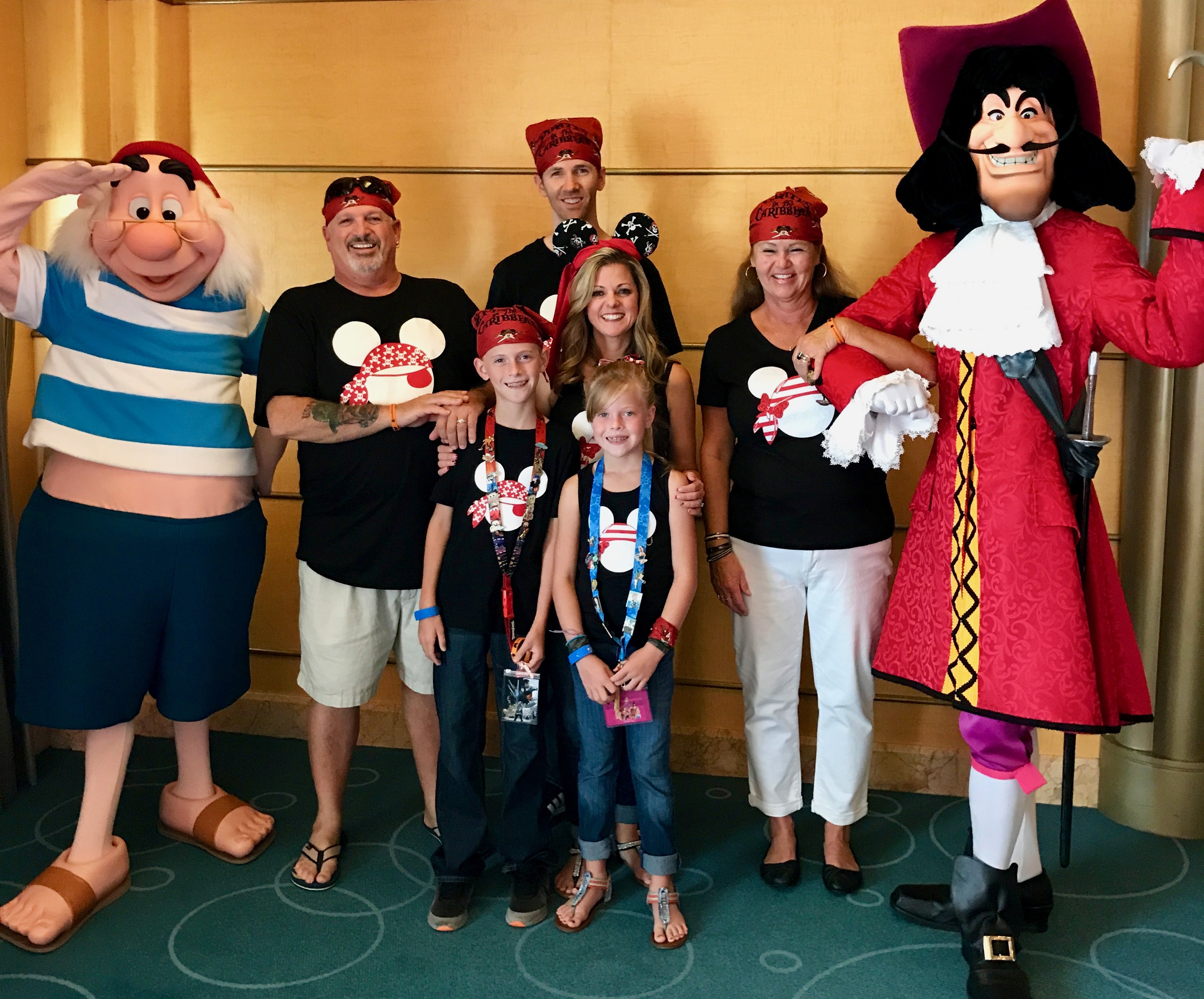 Captain Hook and Mr Smee Character greeting