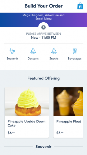 How to Use Mobile Ordering on the My Disney Experience App