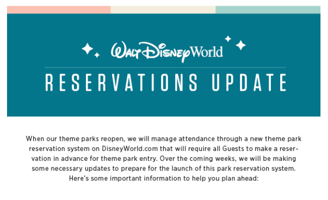 What You Need to Know About Disney World's Reservation Updates