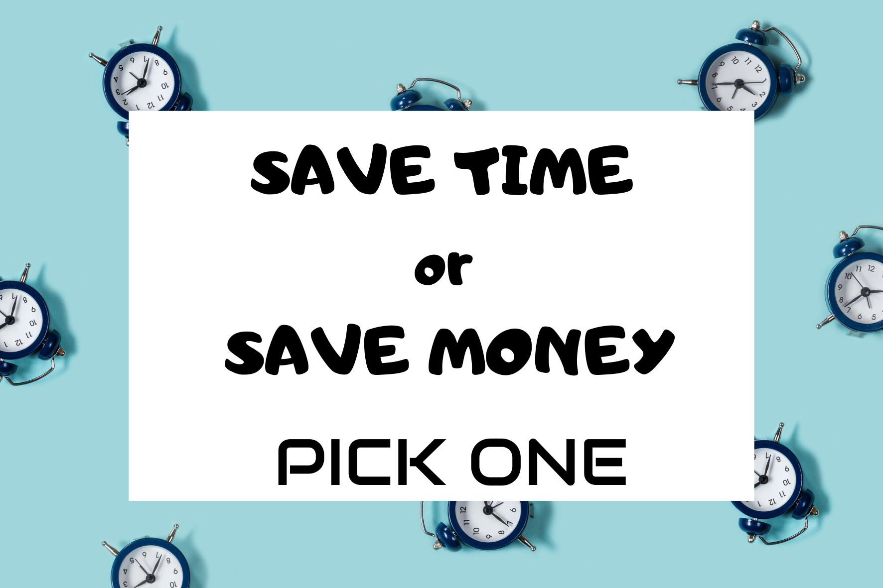 Disney Planning: Save Money or Save Time. Pick 1!