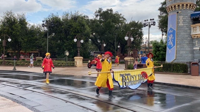 What is the Rainy Day Cavalcade at the Magic Kingdom?