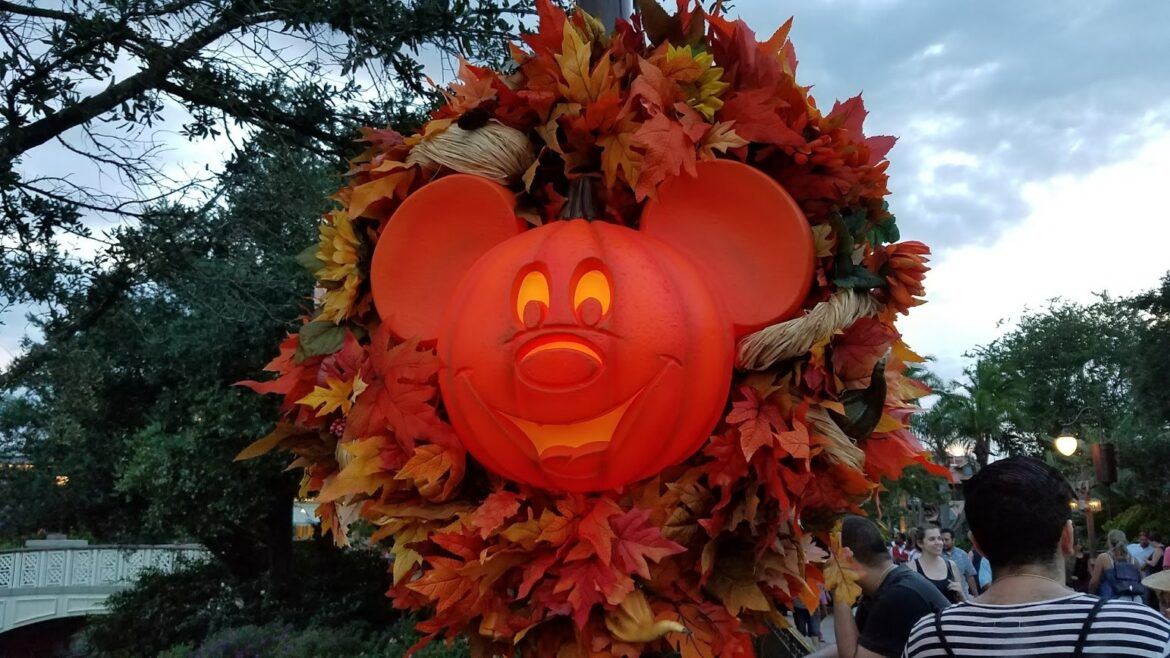 When are the fall decorations, merchandise and foods coming to Disney World?