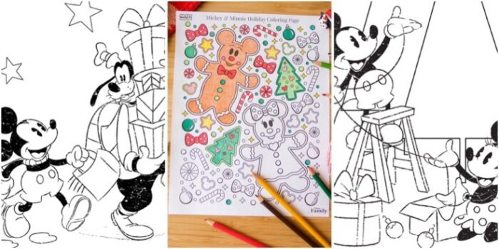 Disney Christmas Coloring Pages Bring The Holiday Fun