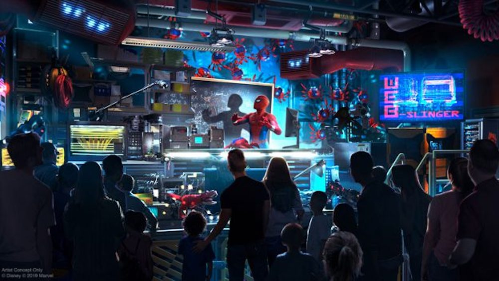 Take a Look at Tom Holland as Peter Parker in WEB SLINGERS: A Spider-Man Adventure Coming to Avengers Campus at Disneyland